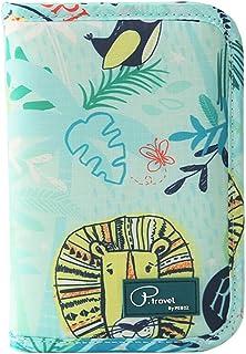 P.tarvel Passport Holder Credit Card Cover Zipper Travel Wallet PT -1607 (Green Animal)
