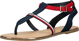 Tommy Hilfiger CORPORATE DETAIL FLAT, Women's Fashion Sandals, Blue