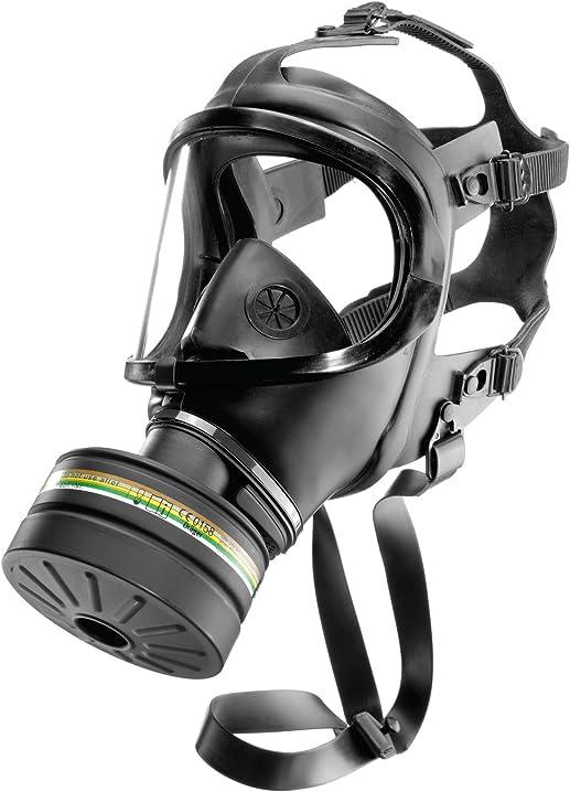 Maschera a pieno facciale con filtro a2b2e2k2-p3 r d/nbc nero | taglia universale dräger cdr 4500 04226350880291