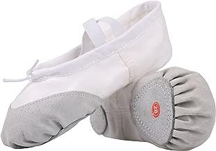 LONSOEN Ballet Slipper Shoes Split-Sole Dance Flat for Girls (Toddler/Little Kid/Big Kid)