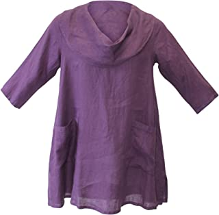 Match Point Womens Cowl Neck Linen Tunic Top sizes Small 2X