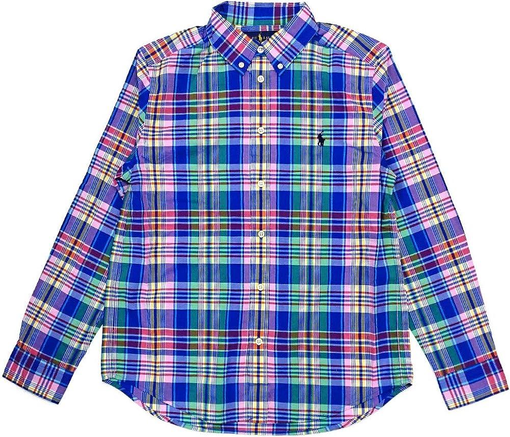 Polo Ralph Lauren Atlanta Mall Kids Ranking TOP17 Boy's Plaid Cotton Little Poplin Shirt K
