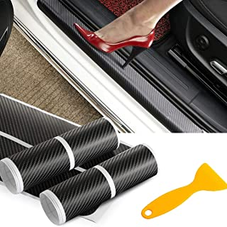 PAMISO 8pcs Car Door Sill Scuff Guard, Welcome Pedal Protect, Anti-kick Scratch for Cars Doors