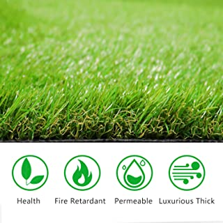 Artificial Grass Turf Rug 20MM Thick Faux Grass Synthetic Lawn Pet Turf Perfect for Indoor and Outdoor (5.5ft x 6.5ft (35.75 Square ft))