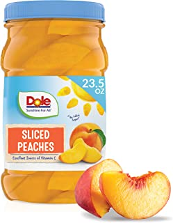 Dole Yellow Cling Sliced Peaches in 100% Fruit Juice, 23.5 Oz Resealable Jar