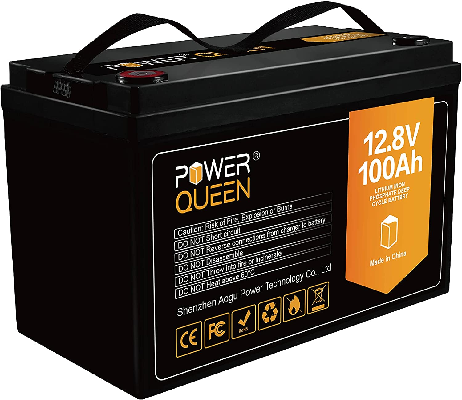 POWER Seattle Mall QUEEN 12V 100Ah with Built-in 50A Outstanding Lithium BMS LiFePO4 Deep