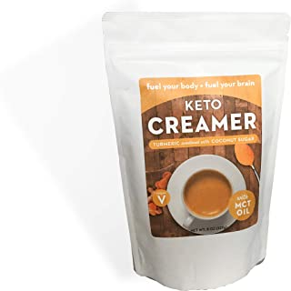 Keto Creamer with MCT Oil, Dairy Free Super Creamer|Turmeric Sweetened withCoconut Sugar, 8oz Resealable Bag