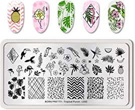 BORN PRETTY Nail Art Stamping Plate Pattern manicuring Design Decoration Tropical Punch-L002