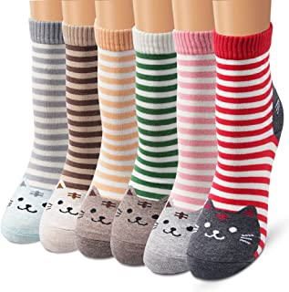 Colorful Cute Animal Design Patterned Women's Casual Cotton Socks