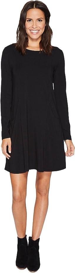 Mod-o-doc - Cotton Modal Spandex Jersey Princess Seamed Dress with Front Pockets