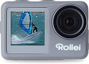Rollei Action-Cam 9s Plus I 4K 60fps Unterwasserkamera mit Selfie-Display, Bildstabilisierung, Zeitraffer, Slow-Motion, Lo...