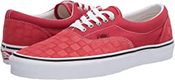 (Deboss Checkerboard) Pompeian Red/True White