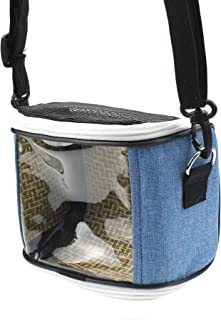 Alfie Pet - Elodie Carrier for Small Animals Like Dwarf Hamster and Mouse - Color: Grey & Blue