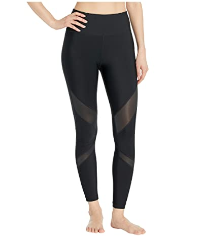 Hurley Quick Dry Mesh Surf Leggings (Black) Women