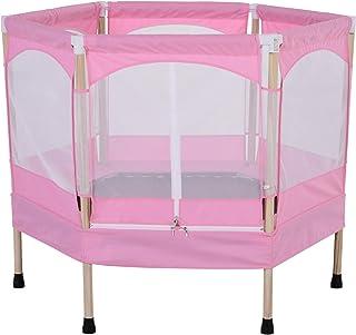 comprar comparacion HOMCOM Cama Elástica para Niños Mayores de 3 Años Trampolín Infantil con Red de Seguridad para máximo 50kg 126x109x98cm Rosa