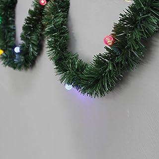 Brite Star Pine Lighted Garland, 18-Feet, Multicolor