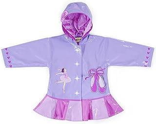 Kidorable - Chubasquero para niñas con diseño de Bailarina Rosa de Poliuretano para Todo Tipo de Clima, para Bailarinas, Corazones, Zapatos de Ballet