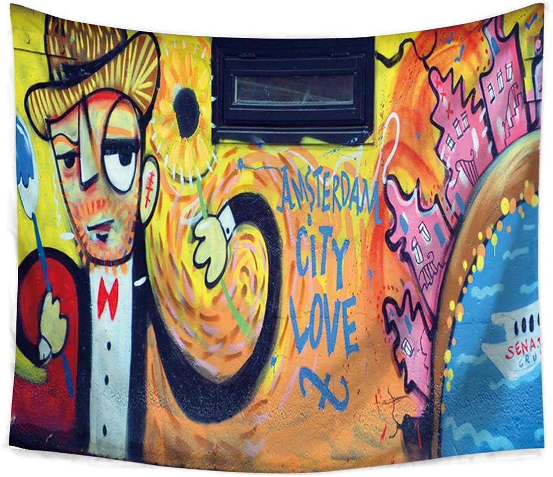 exclusivo Yetta Home Graffiti Indio Hippie Tapiz, decoración para el el el hogar, Pensamiento mágico Tapiz Colgante de Parojo, Colcha Boho (Talla   230 x 150 cm)  vendiendo bien en todo el mundo