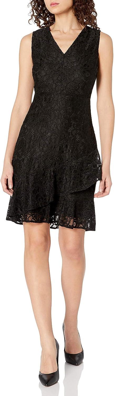 Sam Edelman Women's Sleeveless Ruffle Tiered Hem Dress: Mini