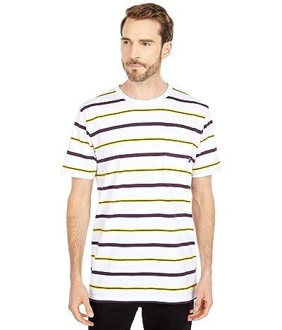 Vans Condit Stripe Short Sleeve Knit Shirt (White) Men
