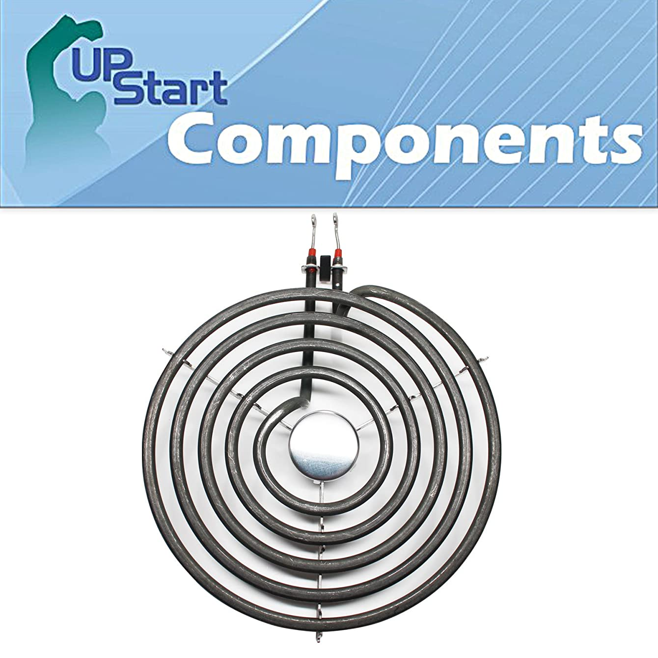 Replacement Whirlpool RS675PXGT10 8 inch 5 Turns Surface Burner Element - Compatible Whirlpool 9761345 Heating Element for Range, Stove & Cooktop