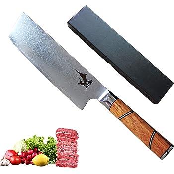 漁川 菜切包丁 刃渡り170 67層ダマスカス菜切包丁 V金10号鋼 使うごとにその良さを実感していただけます