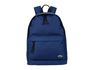 Lacoste Backpack (White/Chlorophyll/Camouflage/Pollen/Navy Blue) Backpack Bags