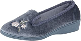 Dunlop GINA Textile Full Gusset Indoor Slippers