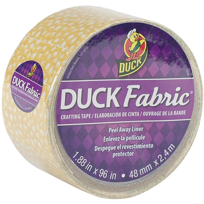 ShurTech FT-1613 Fabric Tape, 1.88 by 96-Inch, Yellow Speckled Dot