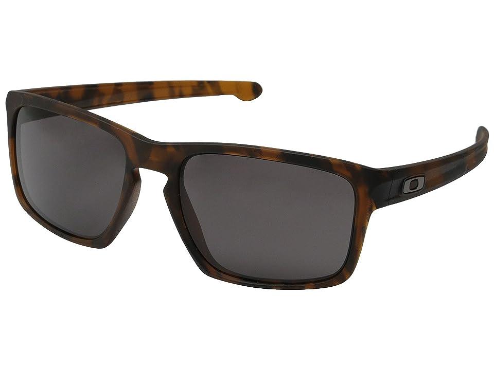 Oakley Sliver (Matte Brown Tort/Warm Grey) Sport Sunglasses