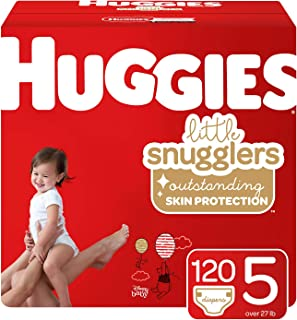 Huggies Little Snugglers Baby Diapers, Size 5, 120 Count