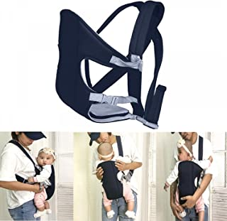 Buorsa 透气翻转婴儿背带背包,带可拆卸垫子,婴儿背带,0-16 个月,*蓝