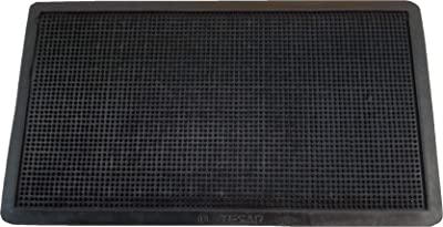 Textiles SAR Rubber Doormat Spikes 35 x 60 cm, Black