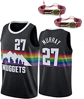 HGFF Men's Jersey,Murray 27 Basketball Sport Jersey, Nuggets Unisex Fans Basketball Jersey Breathable and Comfortable