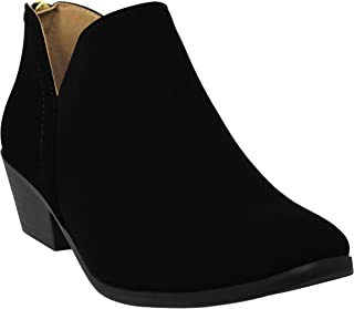 Shoes Womens Stylish Soda Pointed Toe Side Zipper Slip On Ankle Boots