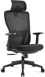 【高さ改良済み】オフィスチェア ワークチェア デスクチェア パソコンチェア テレワーク 椅子 UTTU 人間工学 ハイバック 可動なヘッドレスト 昇降可能なアームレスト ロッキング メッシュ リクライニング 360度回転 組立簡単