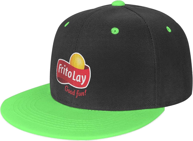 Frito-Lay Adjustable Snapback Running Trucker Hat Contrast Color Hip Hop Baseball Cap Flat Bill