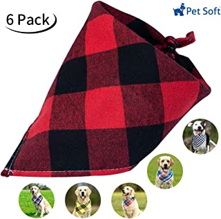 blue plaid dog bandana