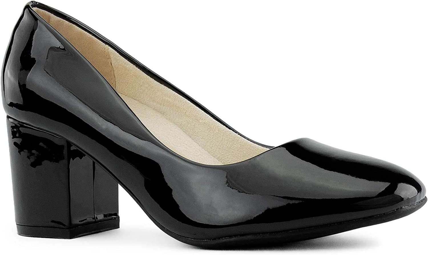 RF ROOM OF FASHION Dealing full price reduction Women's Special price for a limited time True Wide Classic Chunky Width Heel D