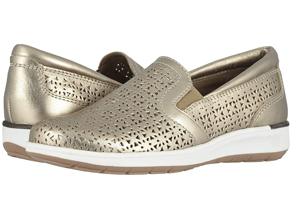 Walking Cradles - Walking Cradles Orleans , Gold Perforated Metallic Leather