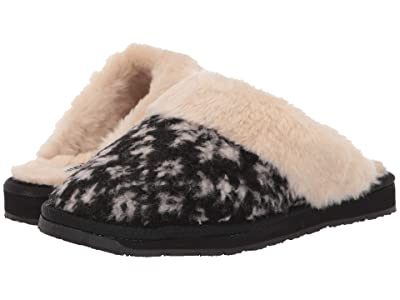 Minnetonka Holiday Scuff (Black Snowflake Berber) Women