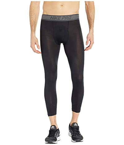 Nike Pro Breath Tights 3/4 (Black/Black/Dark Grey) Men