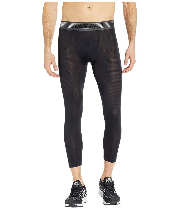 Nike Pro Breath Tights 3/4 (Black/Black/Dark Grey) Men