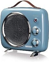 Ariete 808 - Calefactor vintage, frío y cálido, termostato ajustable, asa para fácil transporte, 2000 W, color azul claro