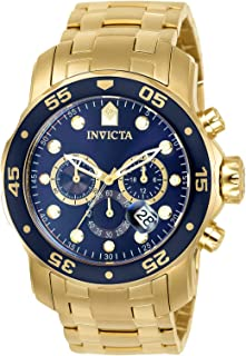 Invicta Mens Quartz Watch, Chronograph Display and Stainless Steel Strap 0073