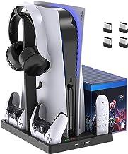 Suporte de ventoinha de refrigeração para console PlayStation 5 e PlayStation 5 Digital Edition, estação de carregamento d...