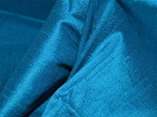 44 Inches Wide Teal Blue Pure Silk Dupioni Pure Dupioni Indian Silk Fabric