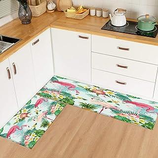 HLXX Modernt tryckt köksmatta entré dörrmatta sovrum säng matta vardagsrum korridor halkfri badmatta A4 50 x 160 cm