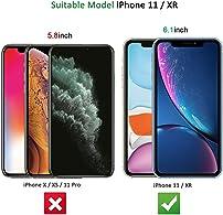 """NEW'C 2-Stuks, Screen Protector voor iPhone 11, iPhone XR (6.1""""), Gehard Glass Schermbeschermer Film 0.33 mm ultra transparant, ultra resistent, Anti-kras, anti-vingerafdrukken"""