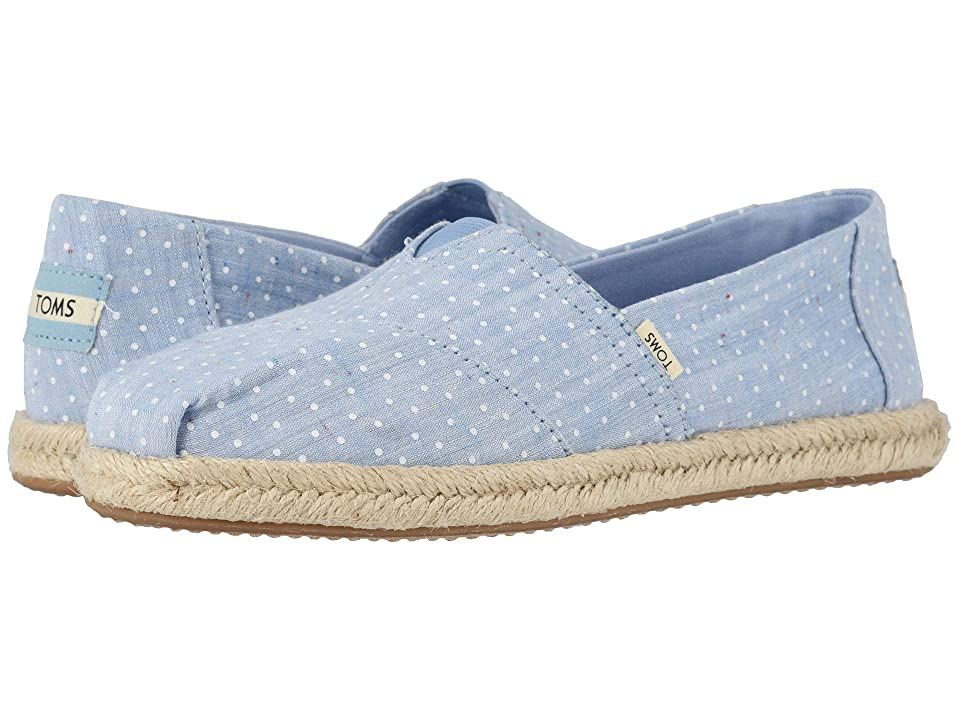 TOMS Alpargata on Rope (Bliss Blue Tiny Chambray Dots on Rope) Women